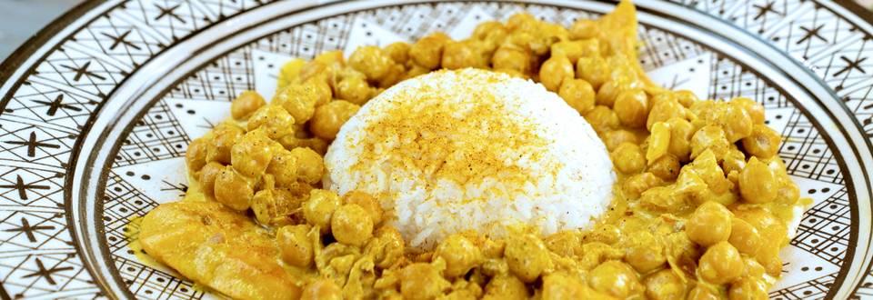 Curry di Ceci e Pollo con Riso Thai